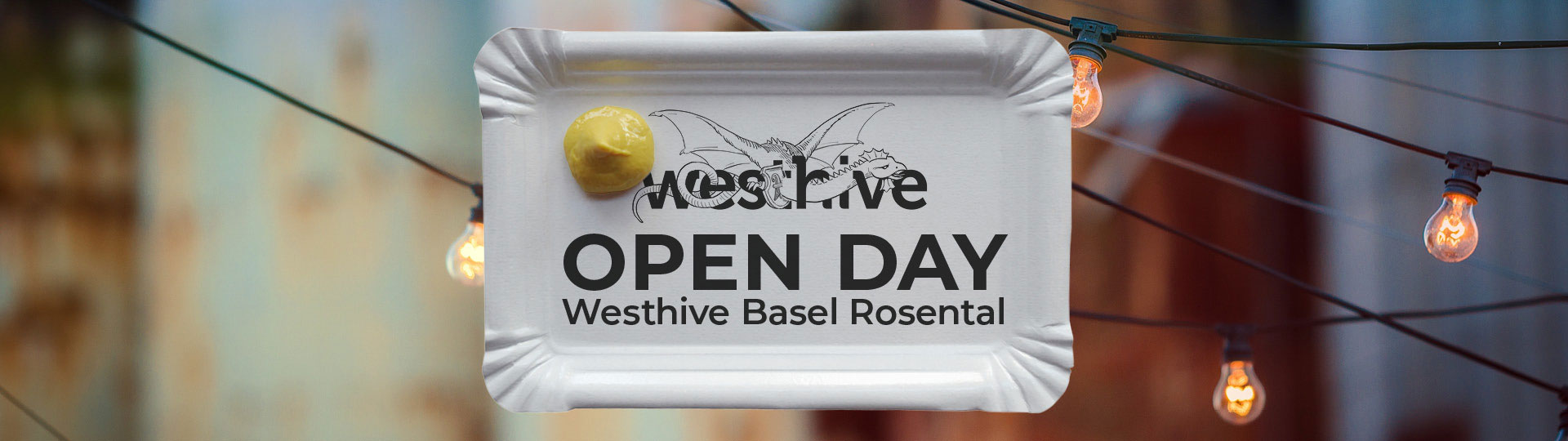Invitation card for open day at Westhive Basel Rosental